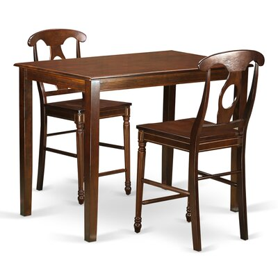 Yarmouth 36 3 Piece Pub Table Set Finish: Mahogany
