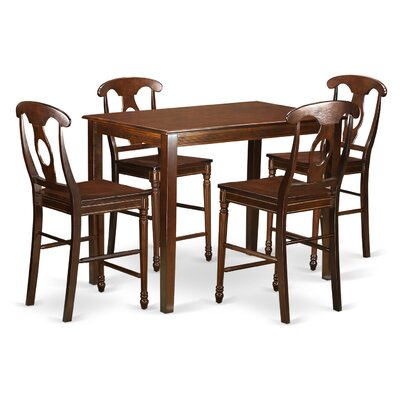 Yarmouth 36 5 Piece Pub Table Set Color: Mahogany