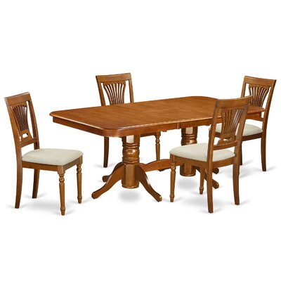Pillsbury 5 Piece Wood Dining Set Chair Upholstery: Upholstered