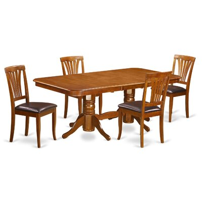 Napoleon 5 Piece Dining Set Chair Upholstery: Faux Leather
