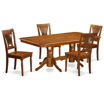Napoleon 5 Piece Dining Set Chair Upholstery: Non-Upholstered Wood