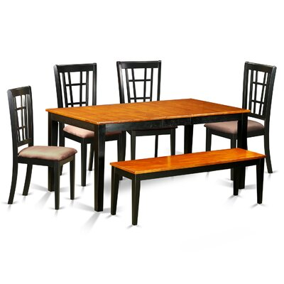 Pillar 6 Piece Extendable Dining Set Finish: Black Cherry