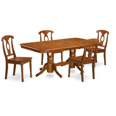 Pillsbury Traditional 5 Piece Wood Dining Set
