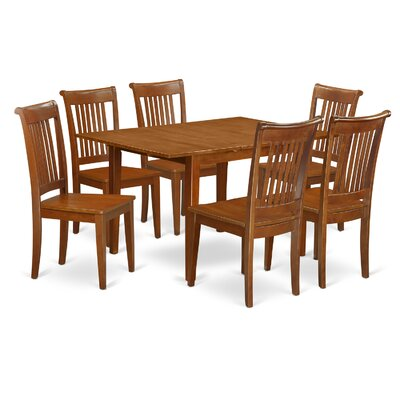 Milan 7 Piece Dining Set Chair Upholstery: Non-Upholstered Wood