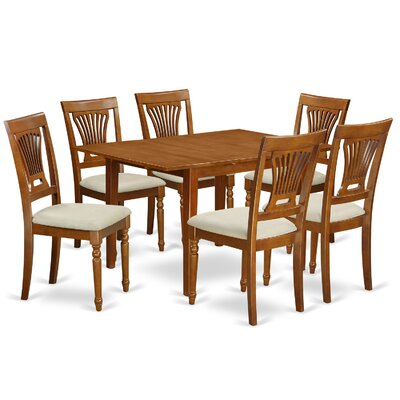 Milan 7 Piece Dining Set Chair Upholstery: Upholstered