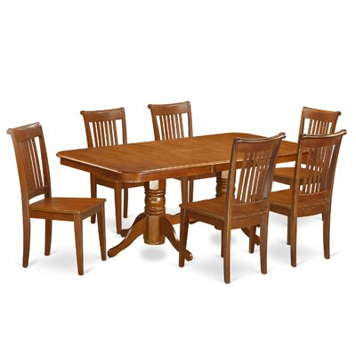 Pillsbury 7 Piece Wood Dining Set Chair Upholstery: Non-Upholstered Wood