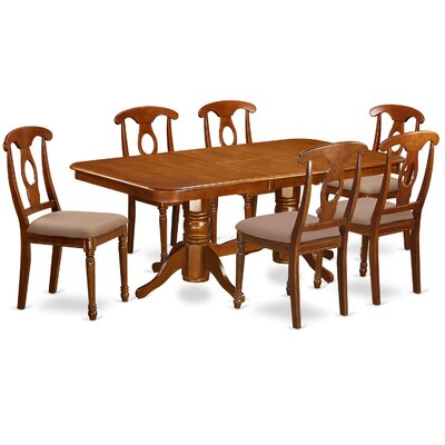 Pillsbury Traditional 7 Piece Dining Set Chair Upholstery: Upholstered