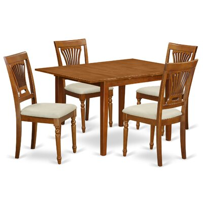 Milan 5 Piece Dining Set Chair Upholstery: Upholstered