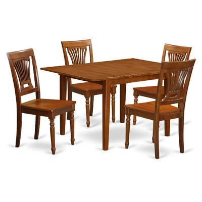 Milan 5 Piece Dining Set Chair Upholstery: Non-Upholstered Wood