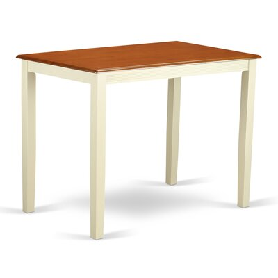 Yarmouth 36 Counter Height Dining Table Finish: Buttermilk/Cherry