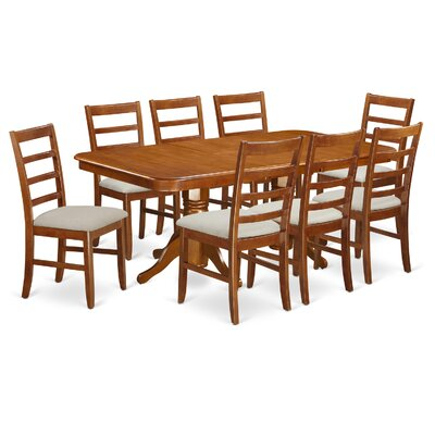 Pillsbury Modern 9 Piece Wood Dining Set