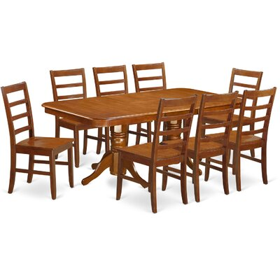 Pillsbury Contemporary 9 Piece Wood Dining Set