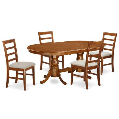 Pilcher Contemporary 5 Piece Wood Dining Set