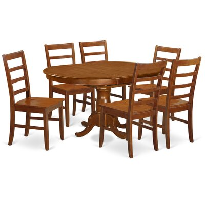 Portland 7 Piece Dining Set Upholstery: Wood Seat