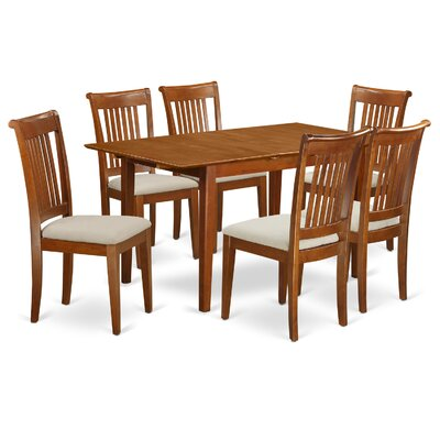 Picasso 7 Piece Dining Set Upholstery: Microfiber Upholstery