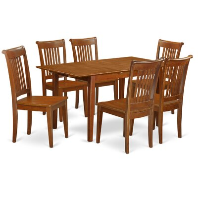 Picasso 7 Piece Dining Set Upholstery: Wood Seat