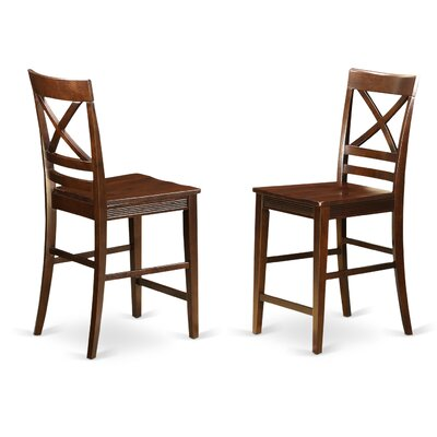 Quincy Bar Stool (Set of 2) Finish: Mahogany