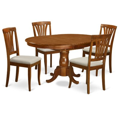 Portland 5 Piece Dining Set Fabric: Microfiber