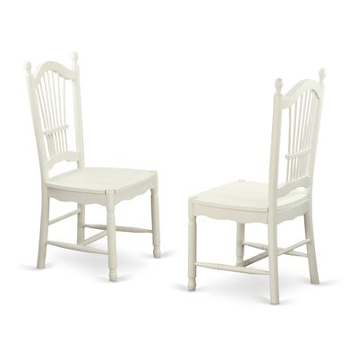 Dover Solid Wood Dining Chair (Set of 2) Finish: Linen White