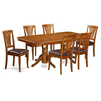 Napoleon 7 Piece Dining Set Chair Upholstery: Faux Leather