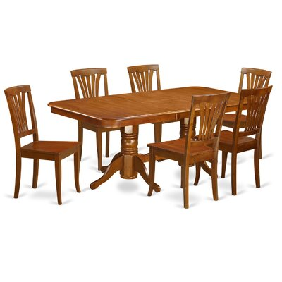 Pillsbury 7 Piece Dining Set Chair Upholstery: Non-Upholstered Wood