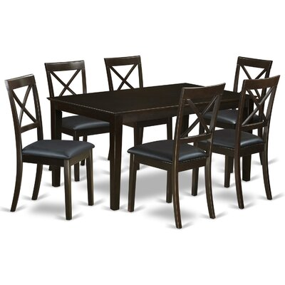 buy capri faux leather 7 piece dining set dining room sets