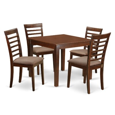Oxford Microfiber Upholstery 5 Piece Dining Set