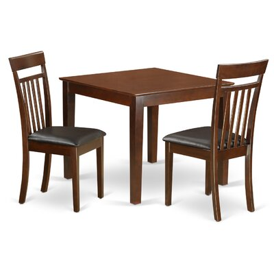 Oxford Faux Leather 3 Piece Dining Set