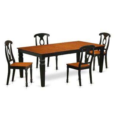 Beesley 5 Piece Black/Cherry Wood Dining Set