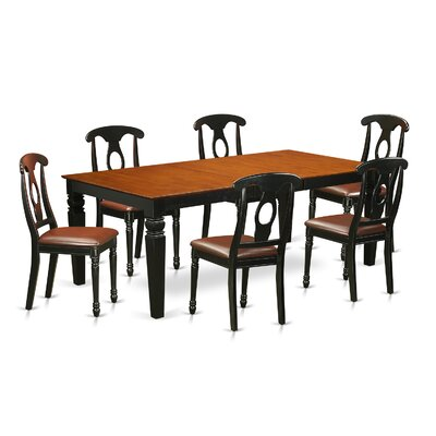 Beesley 7 Piece  Hardwood Dining Set Table Finish: Cherry