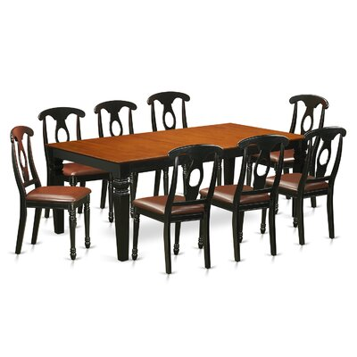 Beesley 9 Piece Hardwood Dining Set Table Finish: Cherry