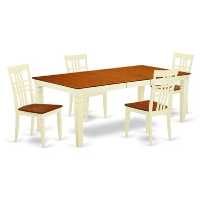 Beesley 5 Piece Wood Dining Set Chair Finish: Buttermilk