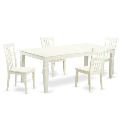 Beesley 5 Piece White Wood Dining Set Finish: Linen White
