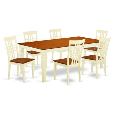 Beesley 7 Piece Wood Dining Set Chair Finish: Buttermilk