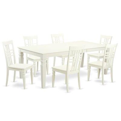 Logan 7 Piece Dining Set Finish: Linen White