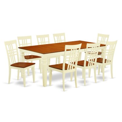 Beesley 9 Piece Wood  Dining Set Chair Finish: Buttermilk