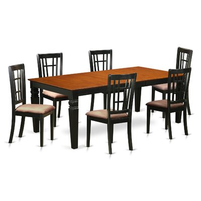 Beesley 7 Piece Dining Set Table Finish: Cherry