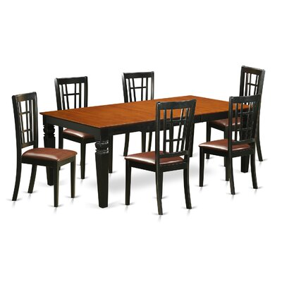Beesley 7 Piece Rectangular HardWood Dining Set Table Finish: Cherry