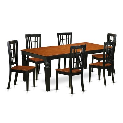 Beesley 7 Piece Black/Cherry Dining Set