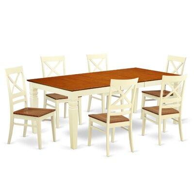 Beesley 7 Piece Rectangular Dining Set Chair Finish: Buttermilk