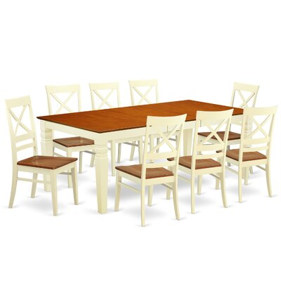 Beesley 9 Piece Rectangular Dining Set Chair Finish: Buttermilk