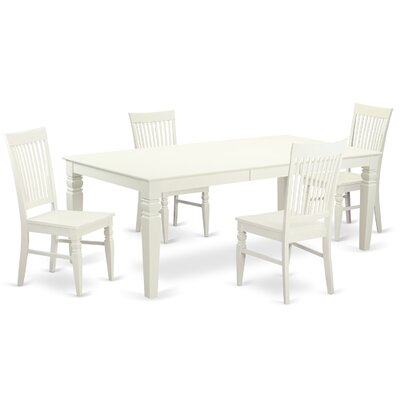 Beesley 5 Piece White Dining Set Finish: Linen White