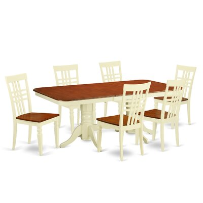 Beesley 7 Piece Buttermilk/Cherry Dining Set