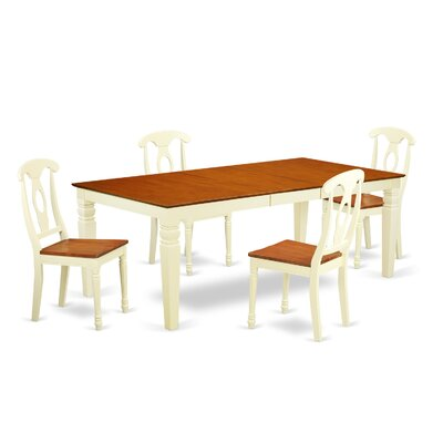 Beesley 5 Piece Buttermilk/Cherry Wood Dining Set