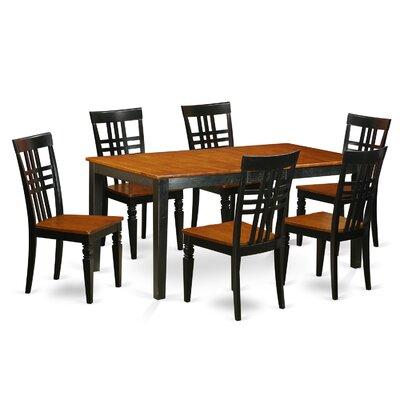 7 Piece Dining Set Chair Finish: Black