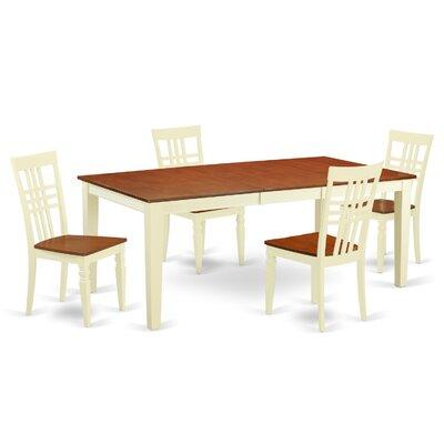 5 Piece Dining Set Chair Finish: Buttermilk