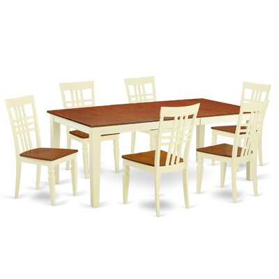 7 Piece Dining Set Chair Finish: Buttermilk