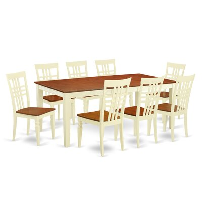 9 Piece Dining Set Chair Finish: Buttermilk