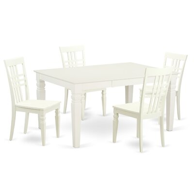 Beeson 5 Piece Dining Set Finish: White Linen