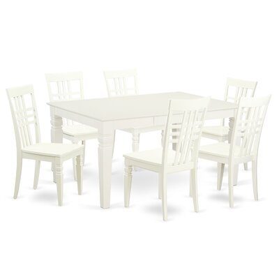 Beetham 7 Piece Dining Set Finish: White Linen